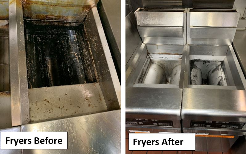 Fryers Before and After