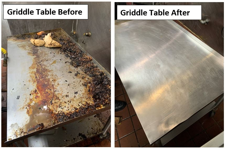 Griddle Before and After